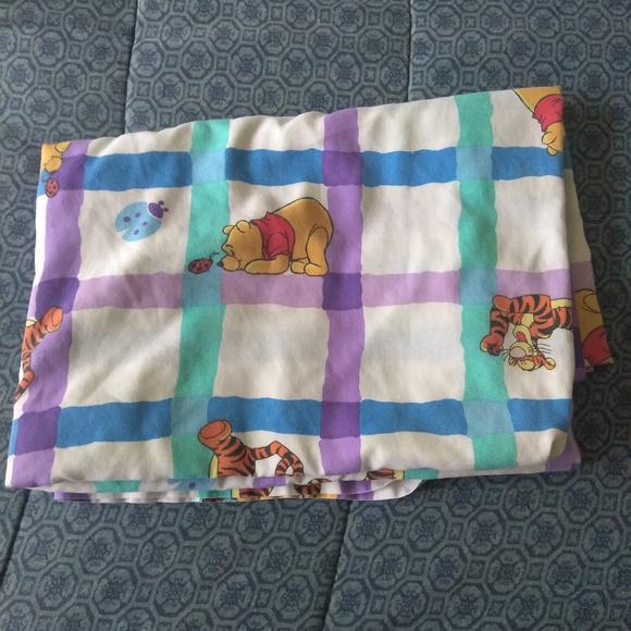 Disney Winnie The Pooh Flat Sheet Tigger Ladybugs Fabric Crafts Cutter